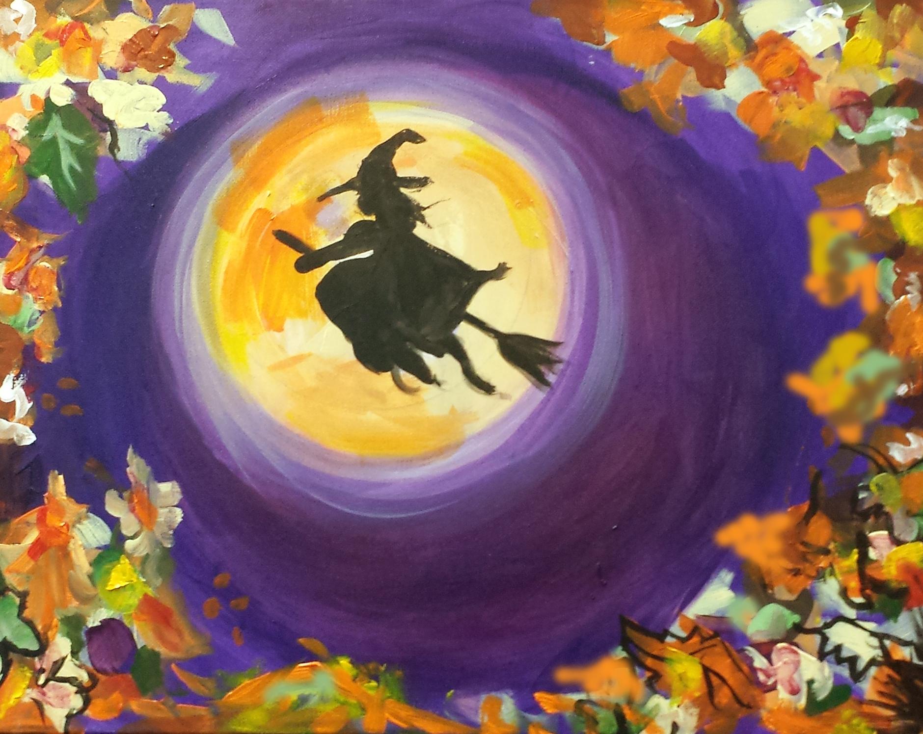 witch-girl-on-broom-ii